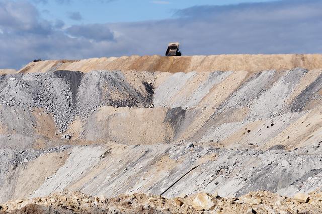 Mining overburden Boggabri Coal