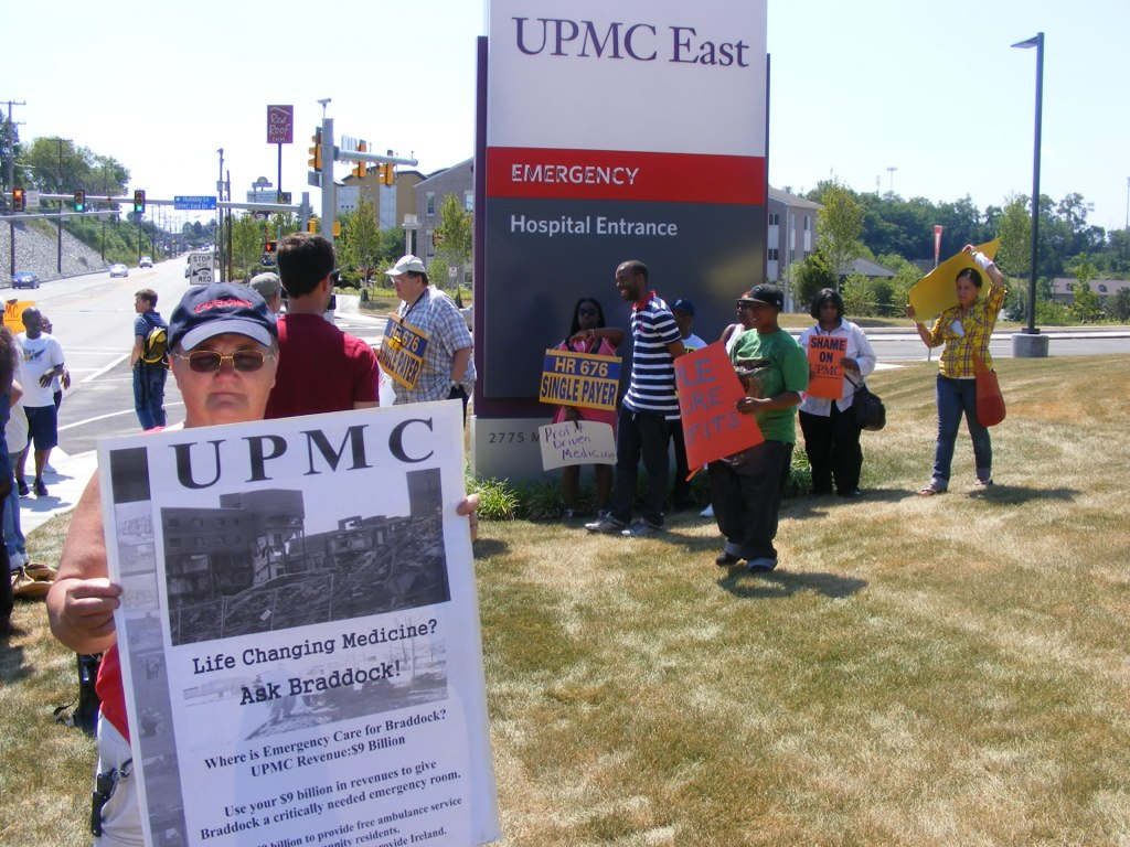 Protesters at UPMC East Entrance | Braddock residents gather… | Flickr