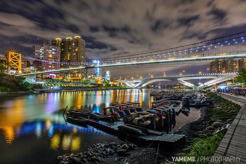 longexposure bridge night eos nightshot taiwan taipei 台灣 台北 夜景 碧潭 bitan 黑卡 長曝 1635mmlii 5dmarkii 新北市