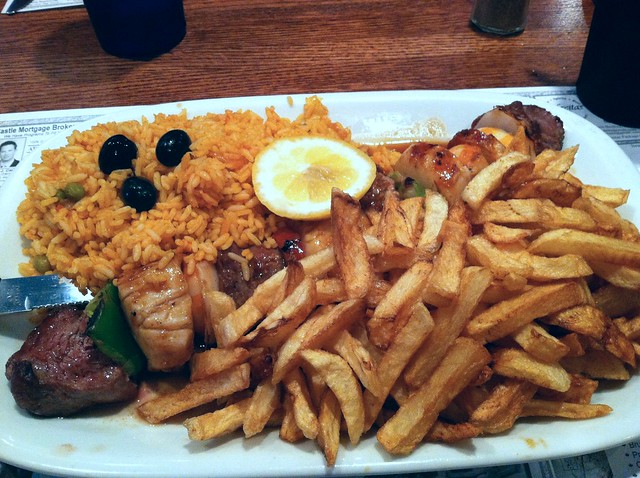 Combo Skewer with Shrimp, Beef and Scallops