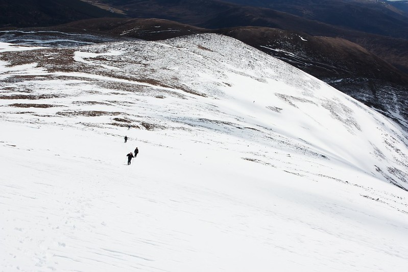 Walking up Derry Cairngorm