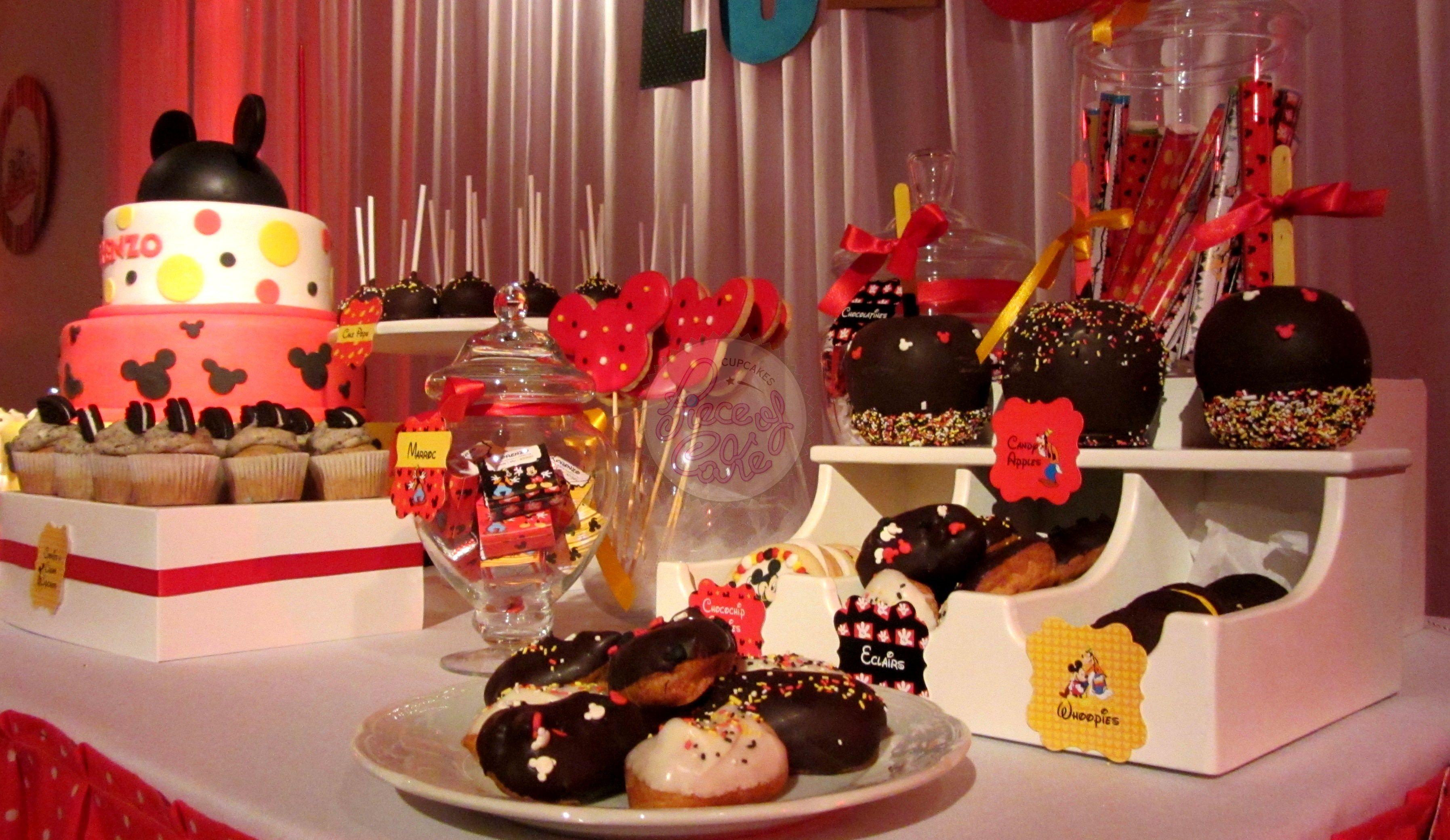 Mesa de dulces de mickey mouse imagui for Mesa de cumpleanos de mickey