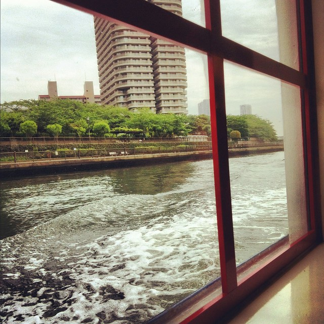 Sumida river on the riverbus