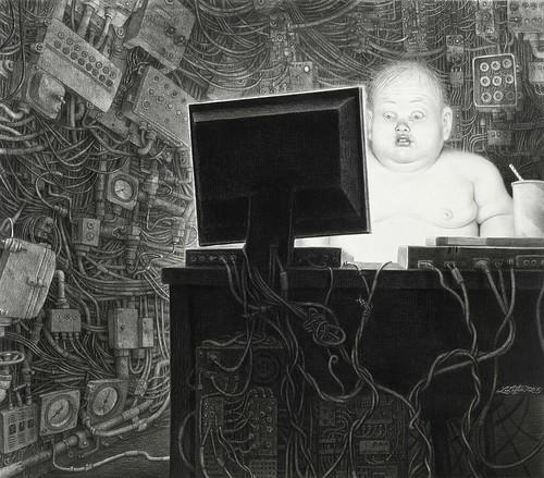 Laurie Lipton, Info Glut, 2010