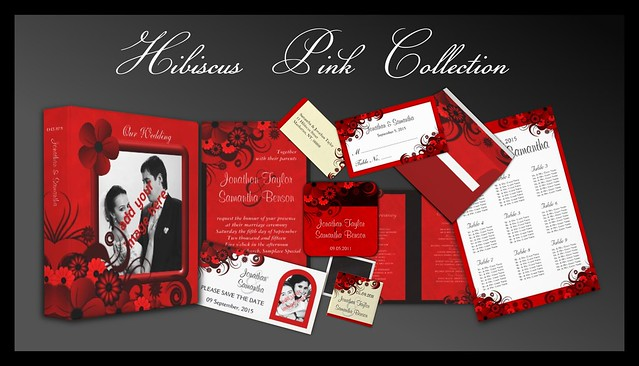 Red Hibiscus Floral Wedding Collection