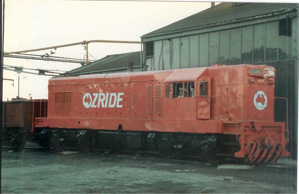 T334 painted pink for Ozride 1-8-1986 by Robert Aquilina