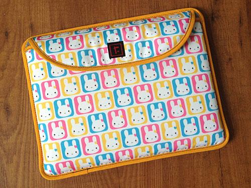 Bunny Squares laptop case