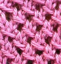 Đan khăn len dạng lưới