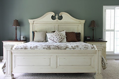 bed frame, furniture, room, bed sheet, chest, bed, nightstand, bedroom,
