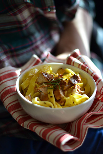 Pasta with chanterelle