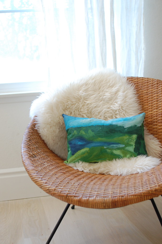 paint-by-numbers pillow