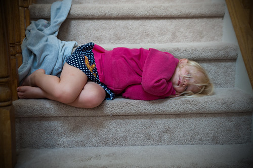063 Mckenzie sleeping on step