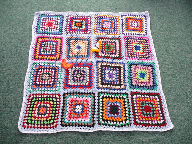 Joanna made six Crocheted blankets for SIBOL! How kind and what a lot of work!