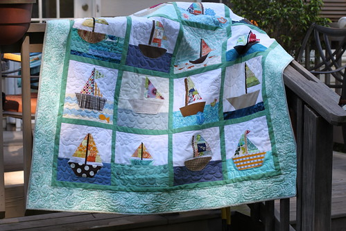 Finished Sailboat Quilt for do. Good Stitches Bliss Circle
