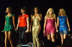 the Spice Girls on stage together