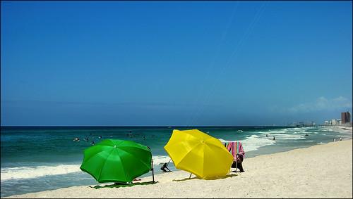 beach florida whitesand panamacitybeach nikoncoolpix8700 beachumbrellas standrewsstatepark floridastateparks gulfogmexico