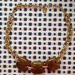 givenchy brown links necklace