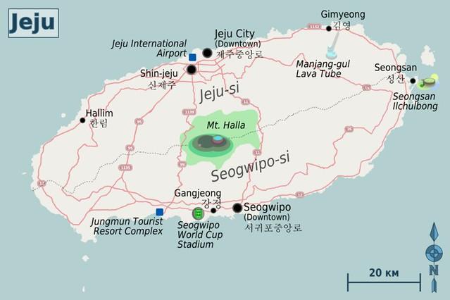 Jeju Island Map