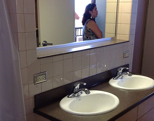 <p>Double-room suites share updated bathroom facilities in the renovated International Gateway House.</p>