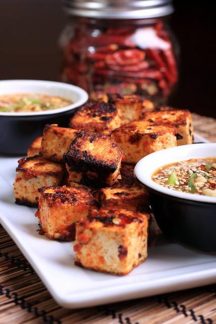 Grilled Sambal Oelek Tofu