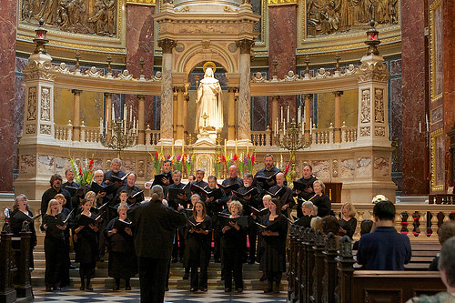 Northwest Chamber Chorus performs in St. Stephen's Basilica in Budapest, Hungary