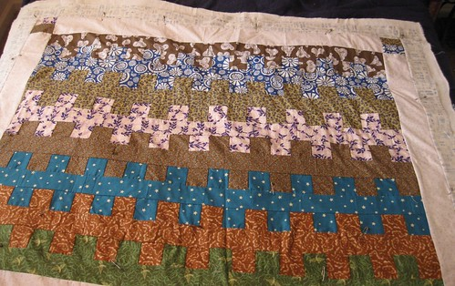 Garden Ladder Quilt Top by Pixiefarts