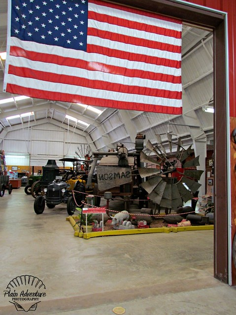 Flag and tractor