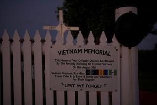 Vietnam Memorial at Eighty Mile Beach