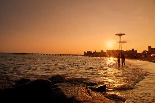 Beach Sunset - Coney Island - Brooklyn - New York City