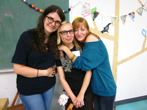 Josie, Me, and Allison at the Etsy Craft Party 2012.