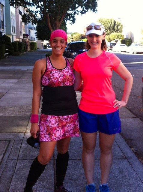 After our fun run through the Presidio. It was great meeting you and running with you!