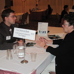First Midwest Bank Recruiter interviewing a student --