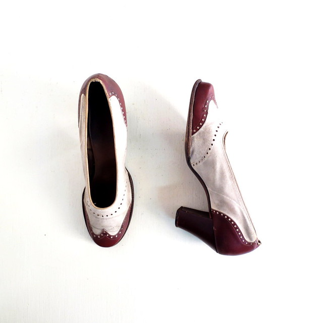 1940s brown and white spectator pumps flickr photo