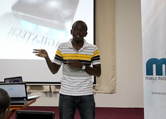 Godfrey Magila from MagilaTech introducing Tanzania e-Voting system