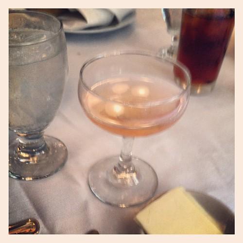 25 cent peach martinis at Antoine's