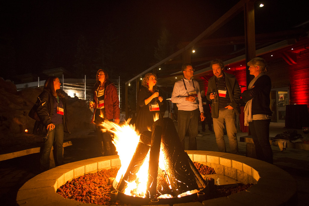 It's not TEDActive without a firepit