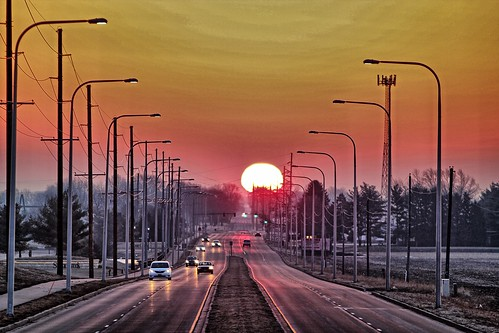road sunrise illinois windsor urbana