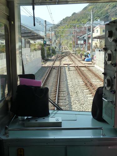 箱根登山鉄道 先頭車両からの風景
