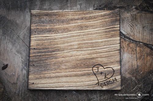 Rustic Simple Heart Wedding Guest Book
