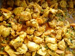 cruciferous vegetables(0.0), vegetarian food(0.0), pakora(0.0), produce(0.0), curry(1.0), vegetable(1.0), food(1.0), korma(1.0), dish(1.0), cuisine(1.0),
