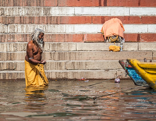 Man in the Ganges