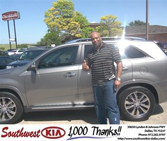 #HappyAnniversary to Michael Taylor on your 2012 #Kia #Sorento from April Waggoner at Southwest Kia Dallas!