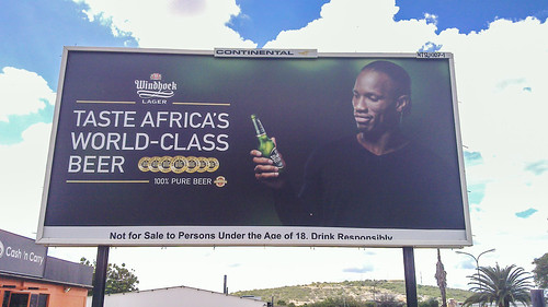 Didier Drogba drinks Windhoek draft