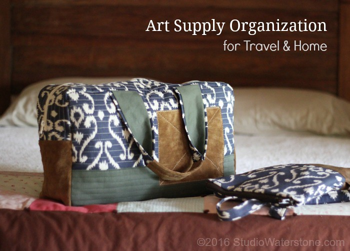Art Supply Organization for Travel & Home