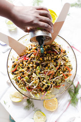 Mixed Bean Salad with Cilantro Lime Vinaigrette