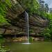 Waterfalls on Grayson lake. by Ulrich Burkhalter