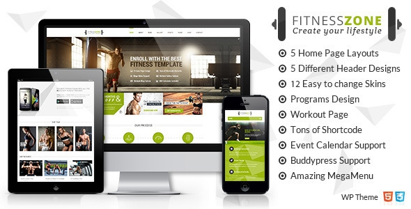 Fitness Zone v2.1 - Sports, Health, Gym & Fitness Theme