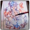 Drawing☆☆☆(●⁰౪⁰●) #ganesha #tattoo  #タトゥー  #design