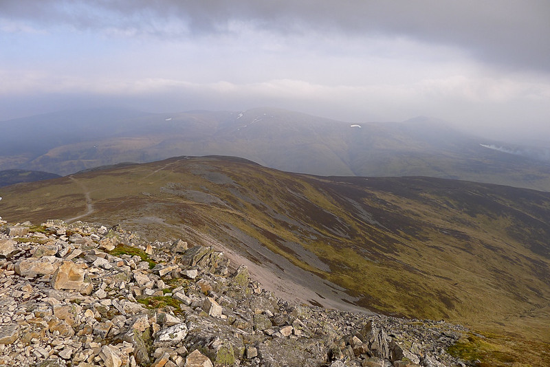 Towards Beinn a' Ghlo from Carn a' Chlamain