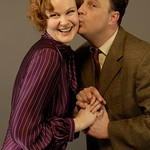 Brooks Ashmanskas and Kate Baldwin in the Huntington Theatre Company's revival of <i>She Loves Me</i> playing at the  Boston University Theatre. Part of the 2007-2008 season. Photo: T. Eric Antoniou.